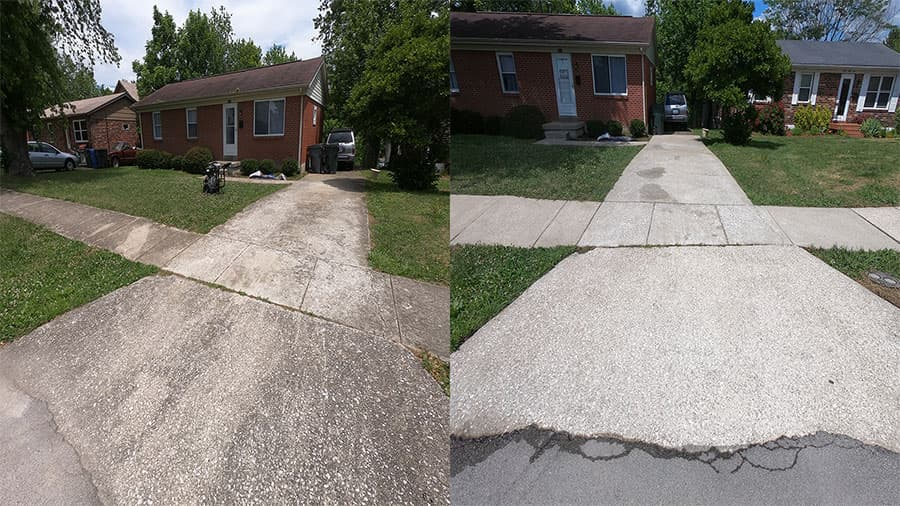 Complete Concrete Cleaning Porch Wash on Hialeiah Ct in Lexington KY